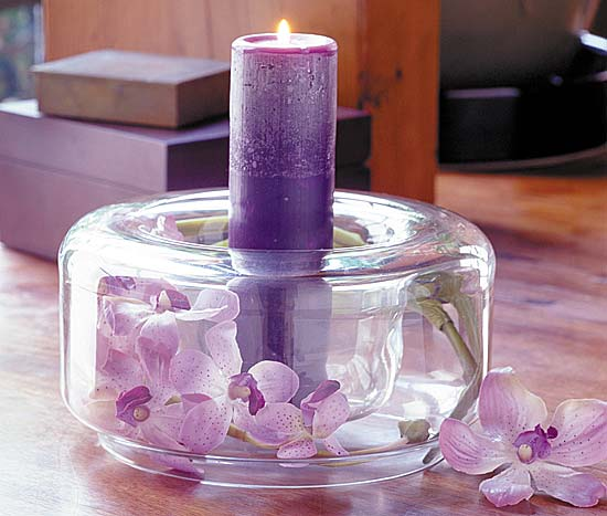 purple candle wedding centerpiece weddings. Black Bedroom Furniture Sets. Home Design Ideas