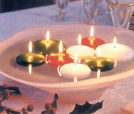 Christmas Floating Candles.Simple Christmas Wedding Centerpieces Floating Candles