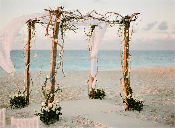 Rustic Beach Wedding Canopy